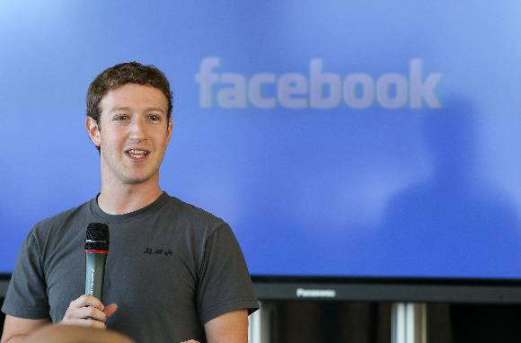 Facebook founder and CEO Mark Zuckerberg speaks at a company event November 15, 2010 (Getty)
