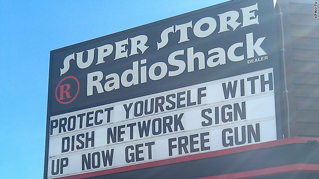 Montana Radio Shack offers free gun or pizza with satellite TV purchase