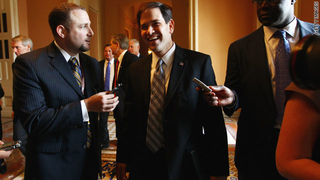 Rubio threatens to hold vote hostage