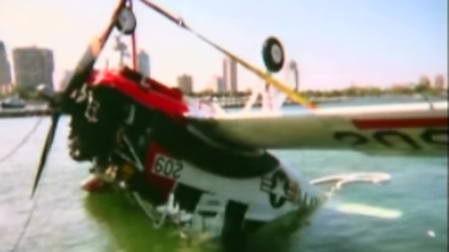 Gotta Watch: Plane's crash water landing, eagle ray pins woman and shark surprise