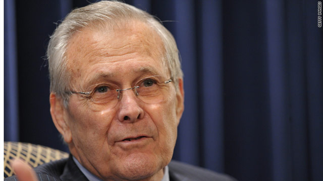 Rumsfeld talks 2012 GOP field