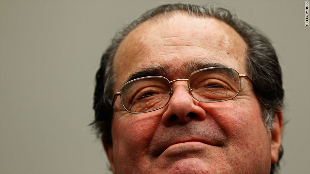 Scalia fined after car accident