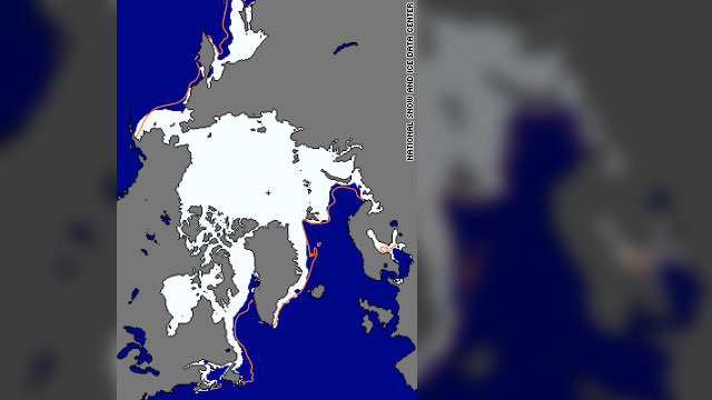 Arctic ice at winter peak is least ever measured by satellite