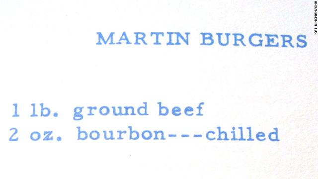 Dean Martin's Bourbon Burgers