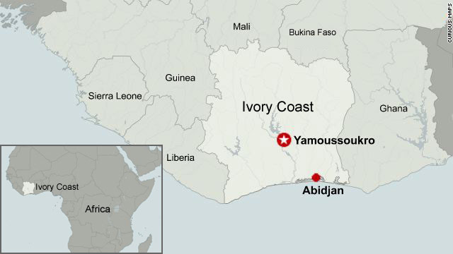 Whats Causing The Conflict In Ivory Coast CNNcom - Ivory coast map of africa