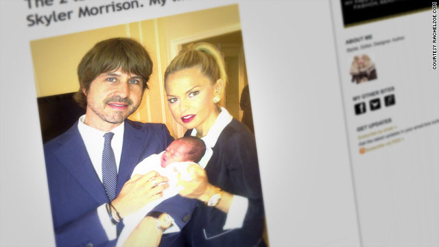 Rachel Zoe and husband show off baby Skyler
