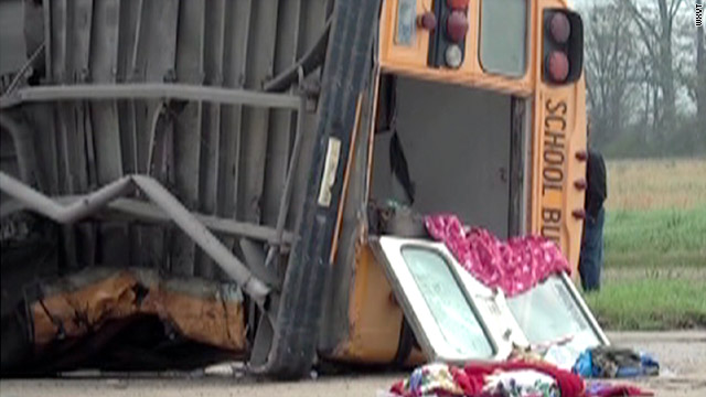 Child killed in school bus wreck