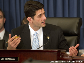House Budget Committee chairman Paul Ryan.