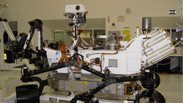 Reporters get first in-person look at new Mars rover