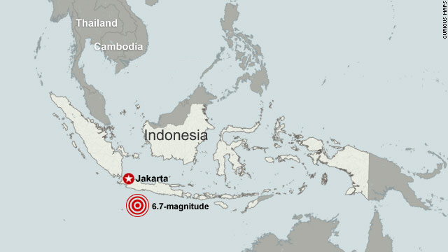 6.7 magnitude quake strikes off Indonesia's coast