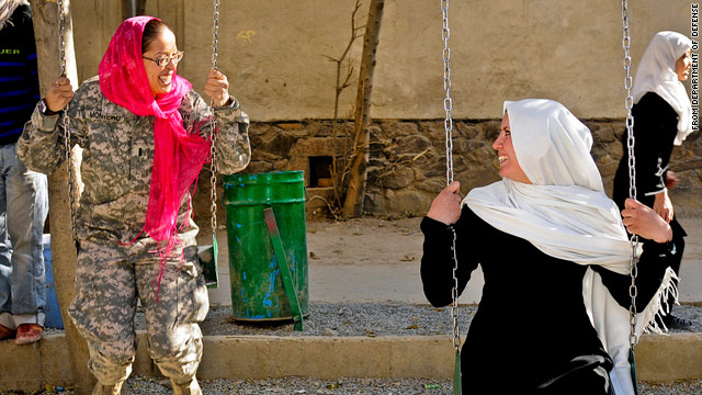 Headscarves for female soldiers in Afghanistan defended