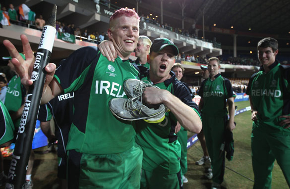 Scenes like these, after minnows Ireland beat England in the 2011 Cricket World Cup, may not be seen in the event again.