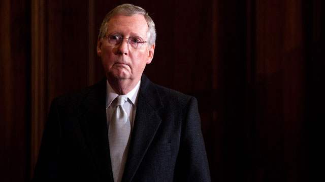 McConnell defends one-week funding bill