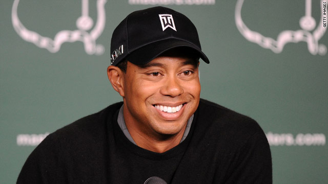 Tiger Woods was in relaxed mood at a press conference ahead of this week's Masters.