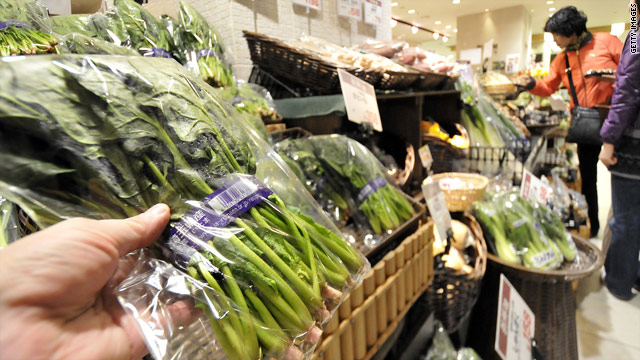 Japan eases restrictions on milk, spinach near nuclear plant