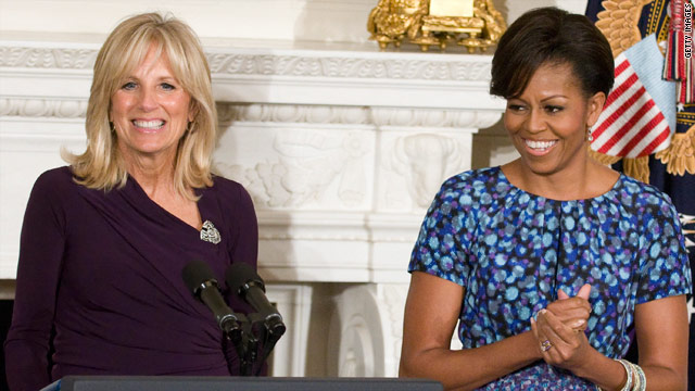 Michelle Obama and Jill Biden team up to support military