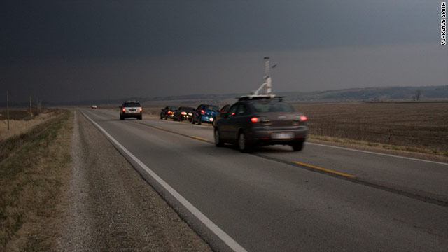 Chaser John Doe. Storm chasers get ahead of a