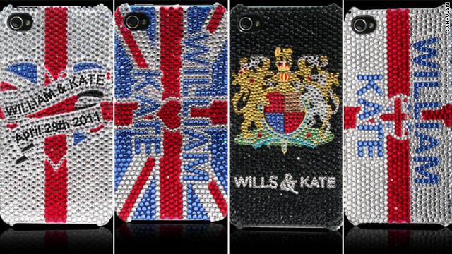 Royal wedding Swarovski cell phone cases