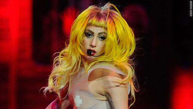 Lady Gaga falls during Houston concert