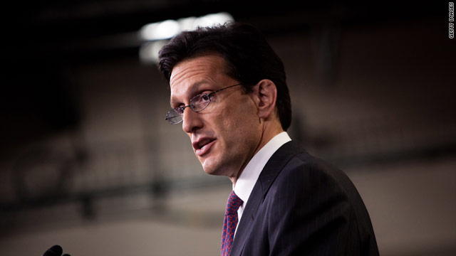 Cantor strikes conciliatory tone before Obama jobs speech