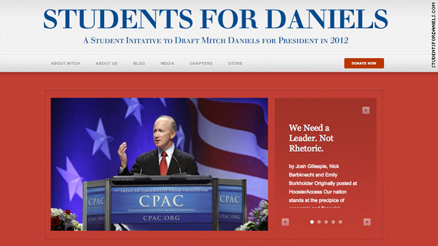 Undeclared candidate Mitch Daniels becoming the big man on campus