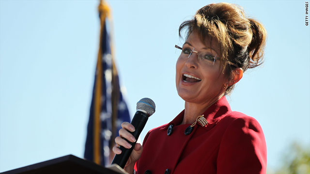 To a tax rally Palin goes