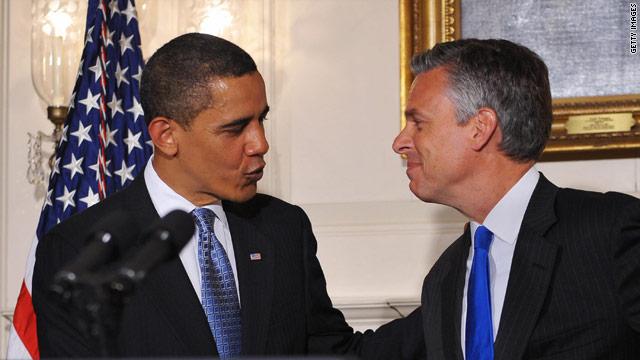 Huntsman caught calling Obama a 'remarkable leader'