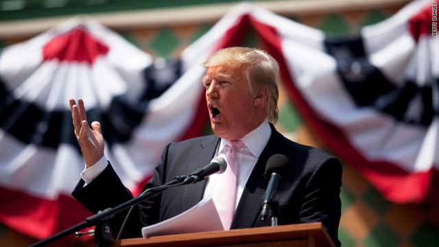 Trump bashes, boasts, and curses in first major Tea Party speech