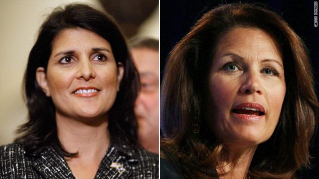 Bachmann meets with Haley at South Carolina Tea Party rally