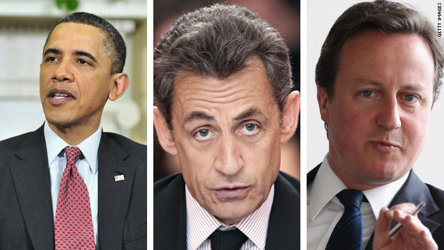 Obama, Cameron and Sarkozy: Future with Gadhafi in power is 'impossible'