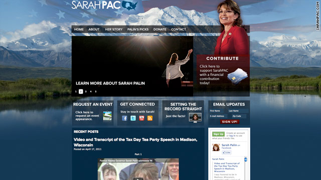 Palin site gets a makeover