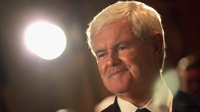Gingrich's first quarter haul
