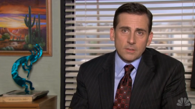 Michael Scott compares the Dundies to Piers Morgan taking over for Larry King