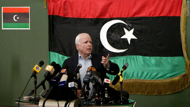 McCain pushes heavier U.S. involvement in Libya