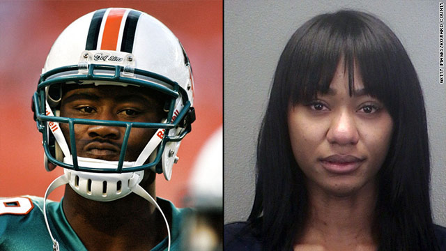 Wife charged in stabbing of Dolphins' Brandon Marshall