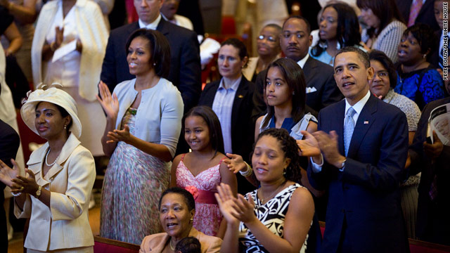 President and first family attend Easter services