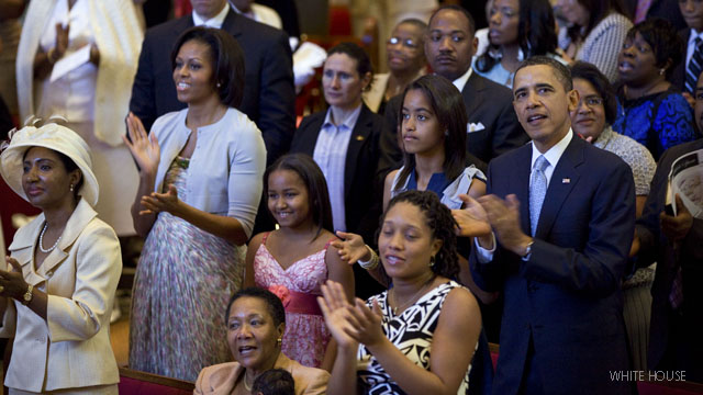 Obamas attend local church on Easter Sunday