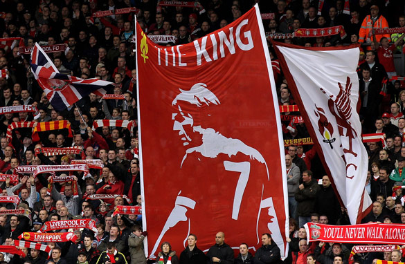 Kenny Dalglish is revered by the Liverpool fans who sit on The Kop at Anfield.