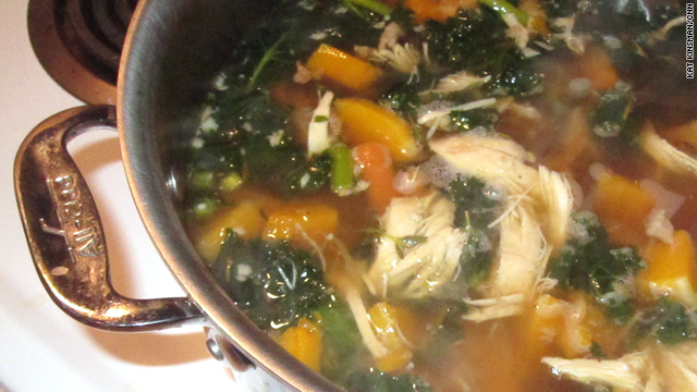 Roasted chicken soup for the banged-up soul