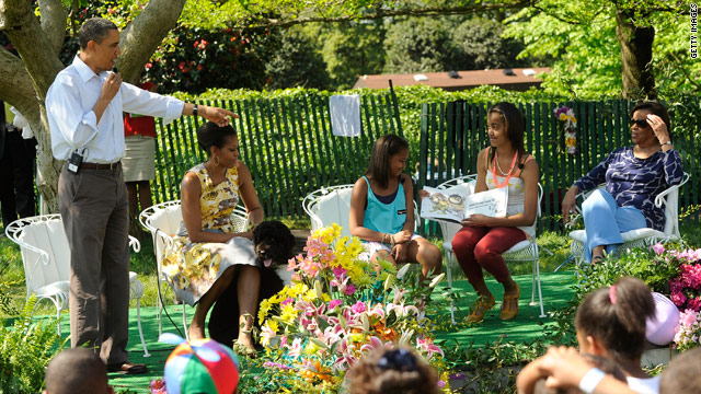 Obamas kick off action packed Easter Egg roll