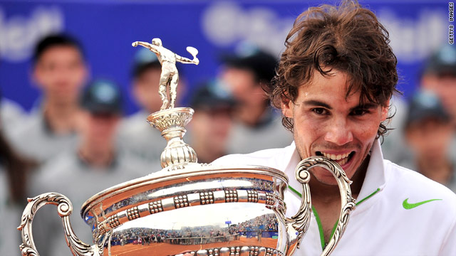 Rafael Nadal gets his teeth into his sixth Barcelona Open crown.