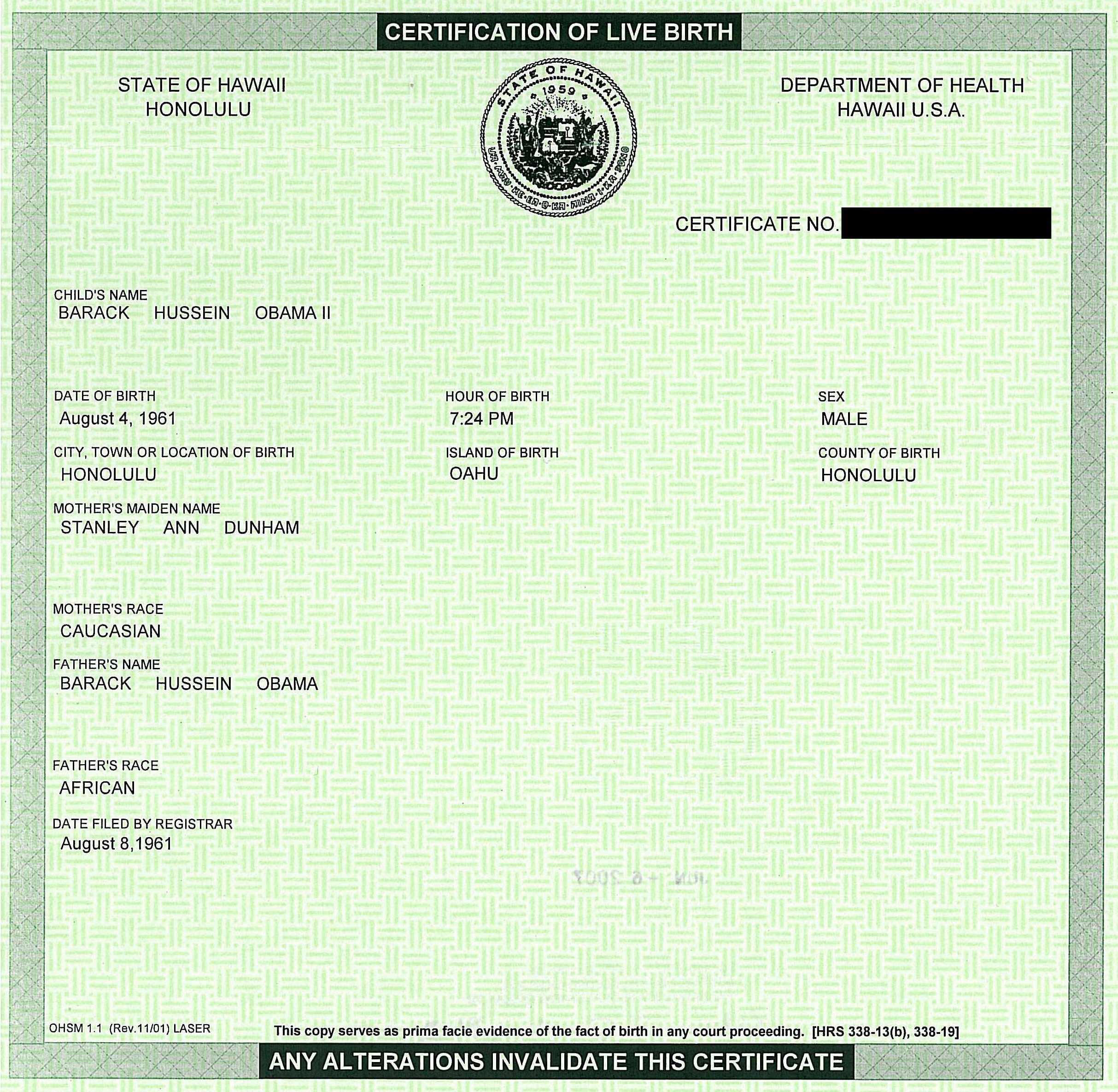 White house releases obamas birth certificate cnn political see obamas certification of live birth aiddatafo Gallery