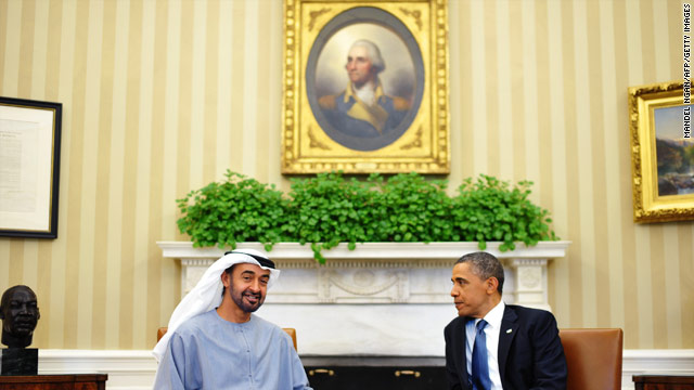 Obama and Crown Prince of Abu Dhabi