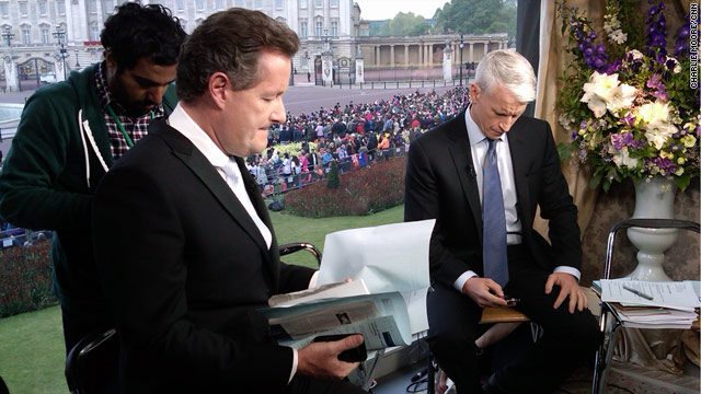 AC361°: Anderson and Piers Morgan prepare for The Royal Wedding