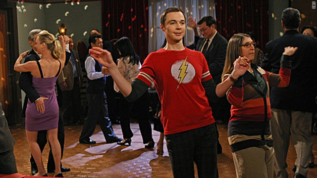 Sheldon's first kiss on 'The Big Bang Theory'