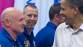 Obama visits KSC despite scrub