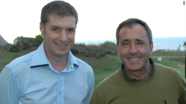 CNN's Don Riddell with Seve in Tenerife back in 2005.