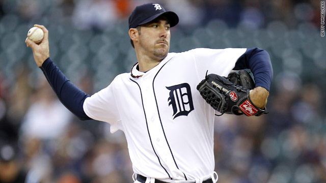 Detroit Tigers' Verlander pitches no-hitter