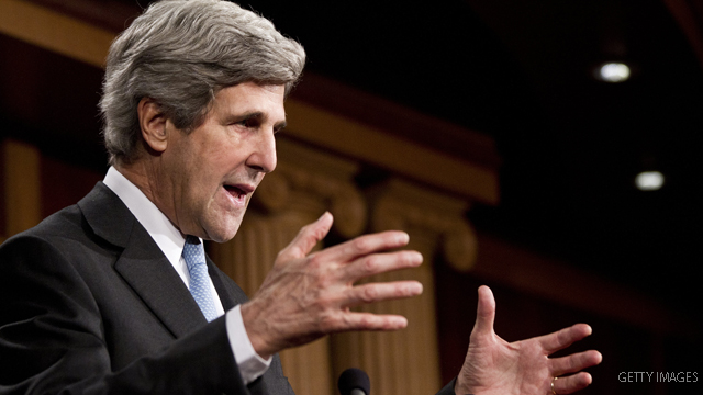 John Kerry's wife hospitalized in Massachusetts