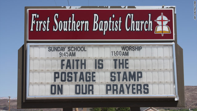 Call for more church sign iReports